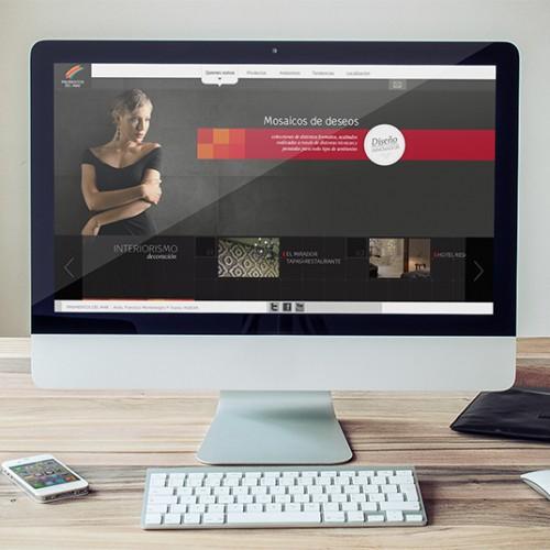 Diseño y desarrollo de la página web de Pavimentos del Mar en Huelva