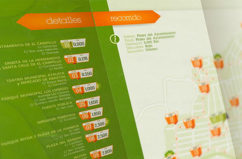 Detalle del Tríptico Ruta Urbana Medioambiental