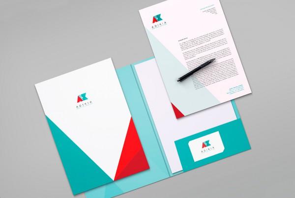 Diseño de identidad corporativa para Adikia, Servicios Jurídicos