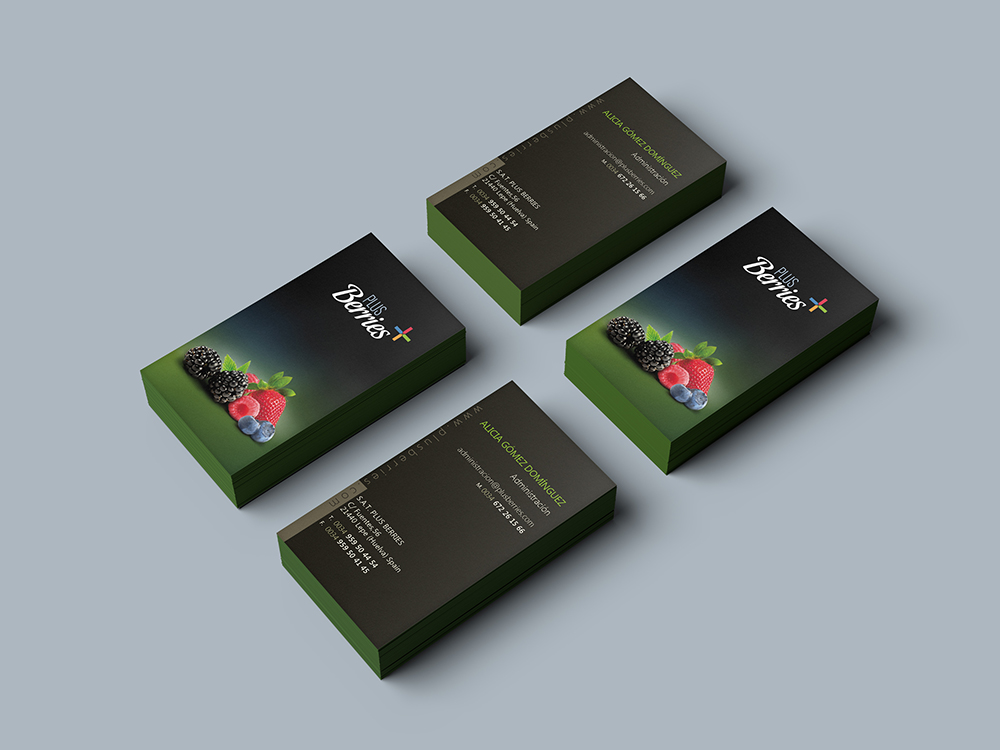 Diseño de Tarjeta para Plus Berries