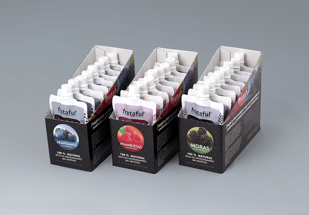 Diseño de packaging / envase para Frutaful, Plus Berries